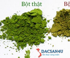 Cách phân biệt bột trà xanh nguyên chất, thật giả như thế nào